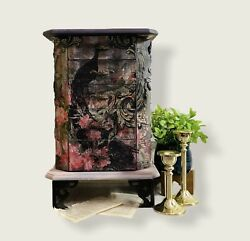 Jewelry Armoire By Coaster Fine Wood Furniture Floral Chest Organizer Excellent