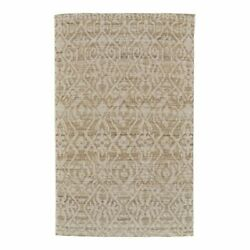 Feizy Leon 2' X 3' Flat Woven Damask Wool Dhurrie Area Rug In Natural Tan/ivory
