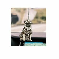Pug Retro Style Car Hanging Ornament, Car Ornament Gift For Dogs Lover