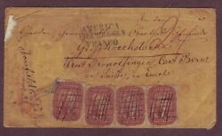Early Classic Cover - Amazing Franking And Markings - Indiana To Switzerland