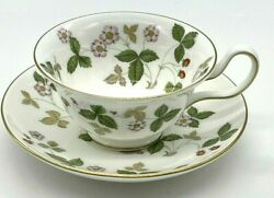 Wedgwood Wild Strawberry Tea Cup And Saucer - English Fine China Wedgewood