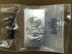 Yeager's Poured Silver Yps 5 Oz Skull And Crossed Pistons Biker Bar