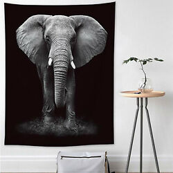 3D Elephant Large Tapestry Wall Hanging Hippie Mandala Bedspread Throw Blankets