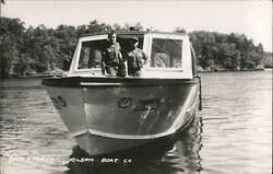 Rppc Wisconsin Dells,wi Dick And Floyd Olson Boat Co Real Photo Post Card Vintage