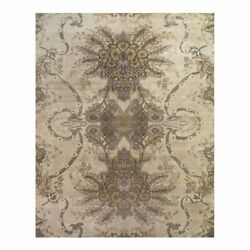 Feizy Vivendi 8and0396 X 11and0396 Premium Hand Knot Wool Area Rug In Ivory/yellow Gold