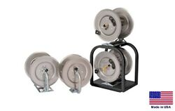 Pressure Washer And Sprayer Stackable Hose Reels - 1 High And 1 Low Pressure Reel