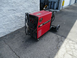 Lincoln Electric Power Mig 255c Welder W/ Magnun 250l Gun And Cables