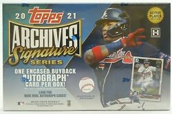 2021 Topps Archives Signature Baseball Box Active Player 1 Auto Free Shipping