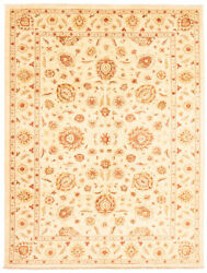 Vintage Hand-knotted Carpet 9'0 X 12'1 Traditional Ivory Wool Area Rug