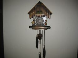 Vintage Willy Neef Black Forest Carved Wood Cuckoo Clock 3 Weights Musical Works