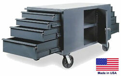 Cabinet Cart Portable - Commercial - Cabinet And 8 Drawers - 34h X 60w X 30d