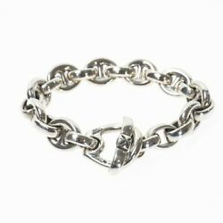 Bill Wall Leather Beams Exclusive Boat Link Bracelet Silver 925 Mens