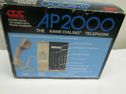 New Cdt Vintage A2000 The Name-dialer Telephone Wall Desk Corded Phone Speaker