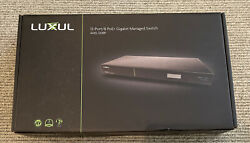 Luxul Ams-1208p 12 Port/8 Poe+ Gb Managed Switch New In Box