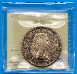 Canada 1956 1 One Dollar Silver Coin - Iccs Ms-64 Toned - Make An Offer