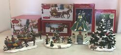 4 St. Nicholas Square And 1 Dickens Collectables Holiday Christmas Figurines