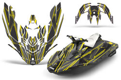 Jet Ski Graphics Kit Decal Wrap For Sea-doo Bombardier Spark 3 Up 14-18 Shock Y