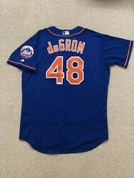 Jacob Degrom Signed Authentic New York Mets Jersey Mlb Authenticated Hologram 48