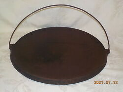 Griswold 14 Vintage Cast Iron Bailed Round Griddle 618