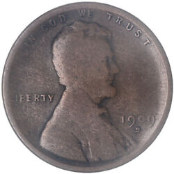 1909 S Lincoln Wheat Cent Very Good Penny Vg+ See Pics H905