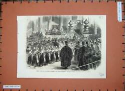 Original Old Antique Print 1866 Festival Charity Children St Paul's Cathedral
