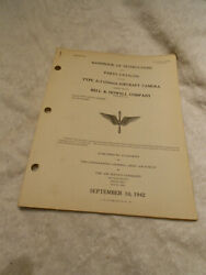 Type A-3 35mm Aircraft Camera Bell And Howell Manual Instructions And Parts Catalog
