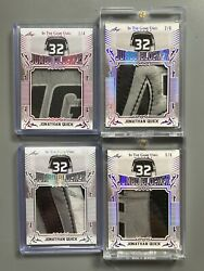 Lot Of 37 Game Worn Equipment Blocker, Trapper, Pad Jonathan Quick Kings Cards