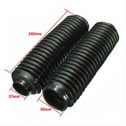 Motorcycle Fork Rubber Cover Gaiters Boots Front Shock Absorber Waterproof 37mm