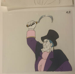 The Real Ghostbusters Villian With Scythe Animation Cel And Drawing