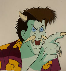 The Real Ghostbusters Animation Cel Venkman As A Monster