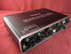 Roland Ua-55 Quad-capture Audio Interface Usb2.0 24bit 192 Khz 4 In 4 Out Tested
