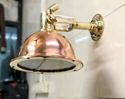 Nautical Marine Cargo Smooth Brass And Copper Pendant/ceiling/wall Light Lot 10