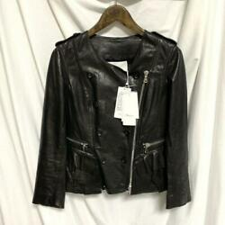 3.1 Phillip Lim Auth Womens Frill Leather Jacket Black Size 2 Used From Japan