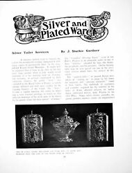 Antique Old Print Silver And Plated Ware Tea Caddies Sugar Bowlpages 1905