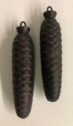 Cuckoo Clock Pine Cone Weights 3 Lbs 5 Oz Each 7 In Long Set Of 2 Metal Parts