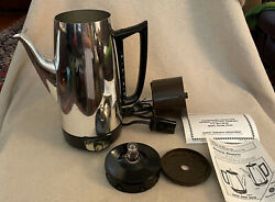 Vintage Ge General Electric Percolator Coffee Maker 9 Cup Immersible A8p15 Clean