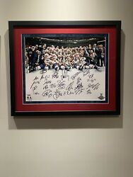 🍀 Washington Capitals 2018 Stanley Cup Team Pic Auto. Ovechkin 🍀