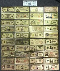 24k Plated Gold Foil Note Currency Bill Paper Money Novelty Famous Cash