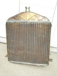 1926 - 1927 Model T Ford Original Brass Radiator Cleaned And Tested No Leaks