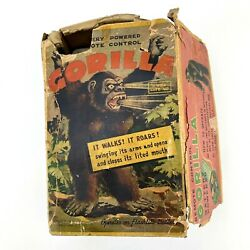 Vintage 1950s Gorilla Battery Operated Tin Toy Japan Nomura Tn W Box For Parts