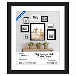 Mainstays 20quot; x 24quot; Matted to 16quot; x 20quot; Wide Black Poster and Picture Frame