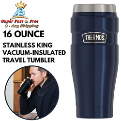 Midnight Blue Stainless Vacuum Insulated Travel Tumbler Drink Lock Lid 16 Ounce