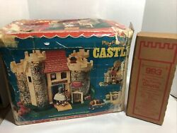 Vtg 70s Fisher Price Little People 993 Play Family Castle Complete Rare With Box