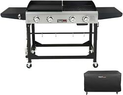 Royal Gourmet 4-burner Gas Grill And Griddle Combo Gd401 Portable Flat Top