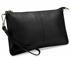 YALUXE Clutch Wristlet Women#x27;s Real Leather Large RFID Blocking Wallet with Shou $38.76