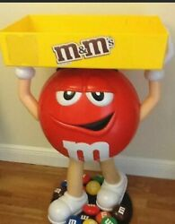 Brand New Mandm Red Character Candy Store Display With Storage Tray