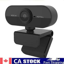 Hd 1080p Webcam Free Drive Usb Computer Pc Rotatable Camera With Microphone