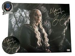 Emilia Clarke Signed And039game Of Thronesand039 Autograph 16x20 Photo Beckett Bas Got 3