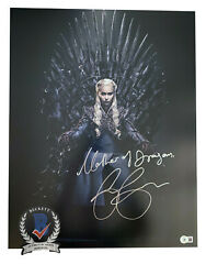 Emilia Clarke Signed And039game Of Thronesand039 Autograph 16x20 Photo Beckett Bas Got 10