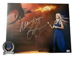 Emilia Clarke Signed And039game Of Thronesand039 Autograph 16x20 Photo Beckett Bas Got 11